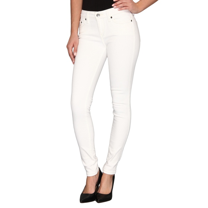 Levi's Juniors 535 Slim-Fit Skinny Jean Legging in White | Rank ...