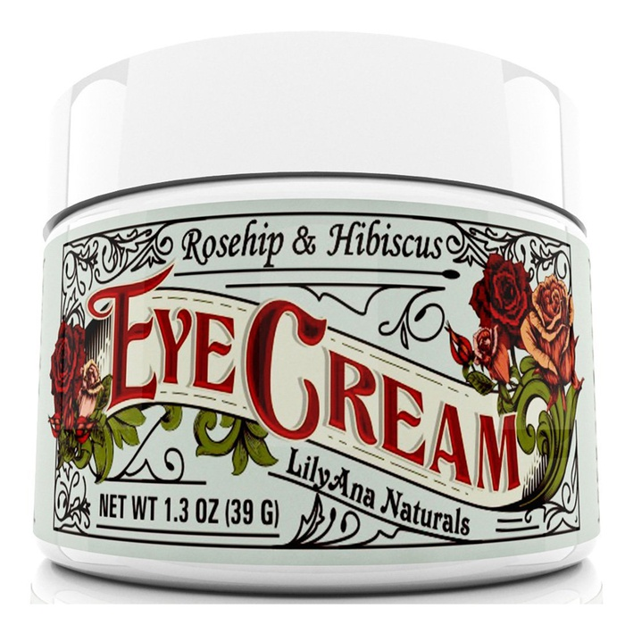 Best Vegan Skincare Products - LilyAna Naturals Rosehip & Hibiscus Eye Cream