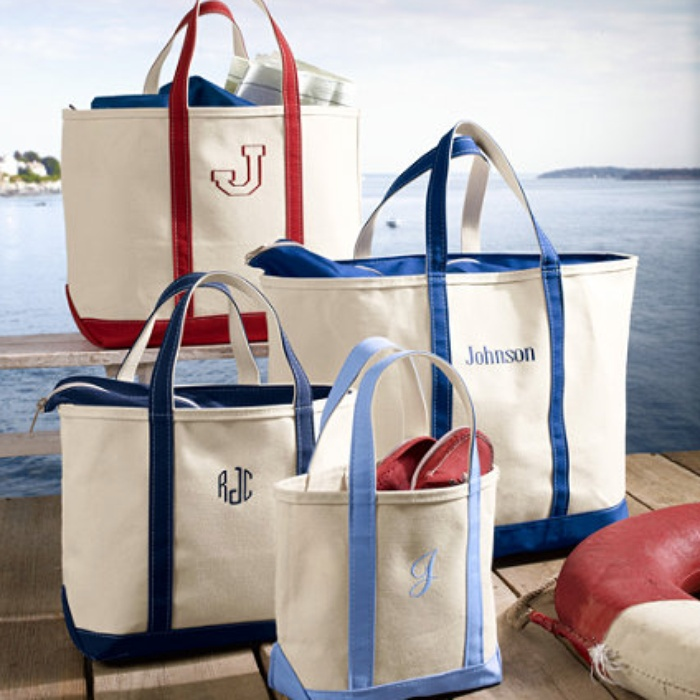 LLBean Boat And Tote Bag With Zip Top