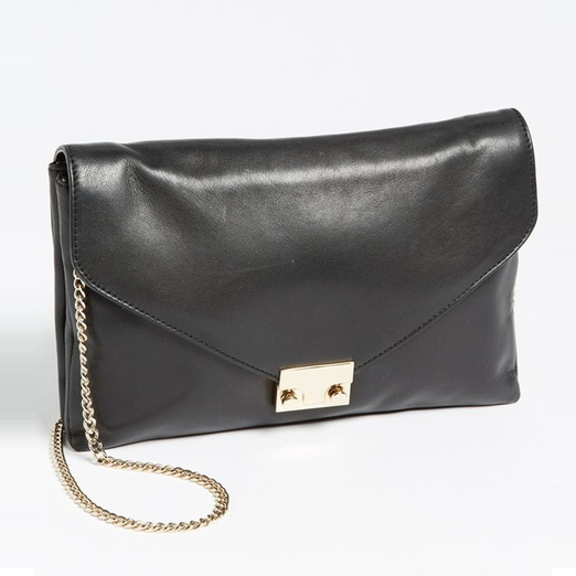 Best Summer Clutches - Loeffler Randall 'Lock' Leather Clutch
