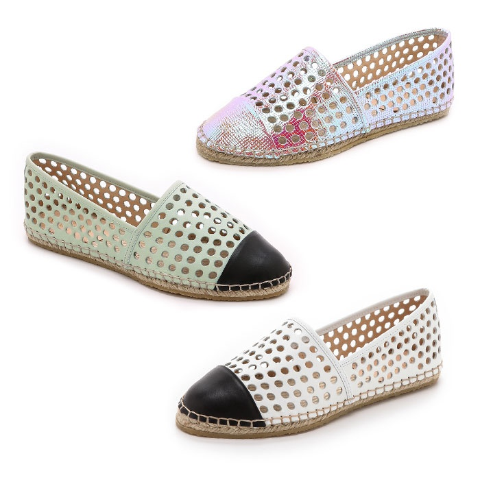 Best Perforated & Laser Cut Bests - Loeffler Randall Mara Laser-Cut Leather Espadrille Flats