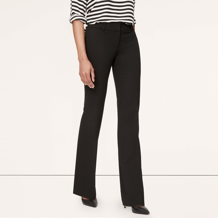 Best Work Pants Under $100 - Loft Custom Stretch Trouser Leg Pants in Juliet Fit