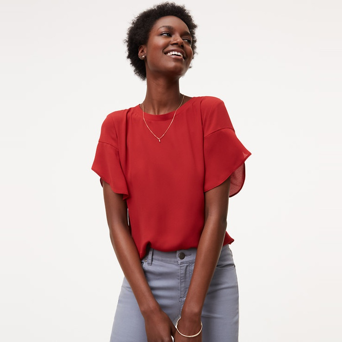 Best Summer Tops With Sleeves - Loft Petal Sleeve Clean Tee