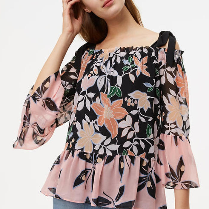 Best Feminine Tops - Loft While Orchid Off The Shoulder Blouse