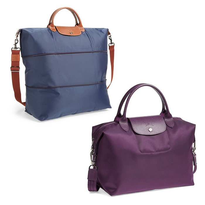 Best Honeymoon Travel Totes - Longchamp Le Pliage Expandable Travel Bag and Le Pliage Neo Medium Tote
