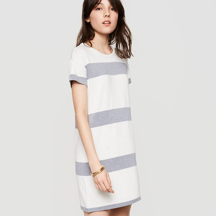 Best T-shirt Dresses - Lou & Grey Striped Signaturesoft Tee Dress