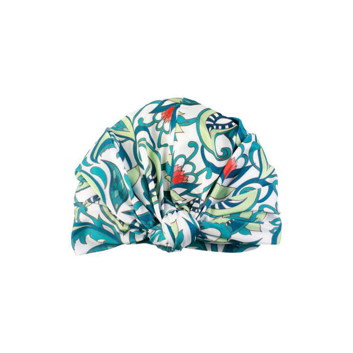Best Shower Caps - Louvelle Dahlia Botanical Turban Shower Cap