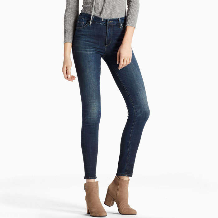 Best Lucky Brand Fall Fashion Finds - Lucky Brand Bridgette Mid Rise Skinny Jean in Lonestar