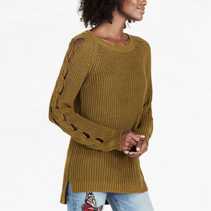 Best Lucky Brand Fall Fashion Finds - Lucky Brand Cut Out Detail Sweater