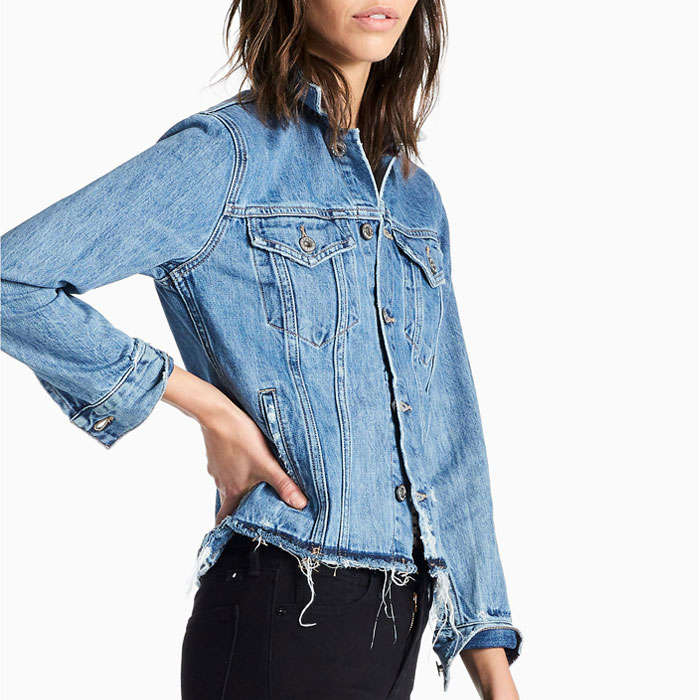 Best Lucky Brand Fall Fashion Finds - Lucky Brand Rip And Repair Tomboy Trucker Jacket