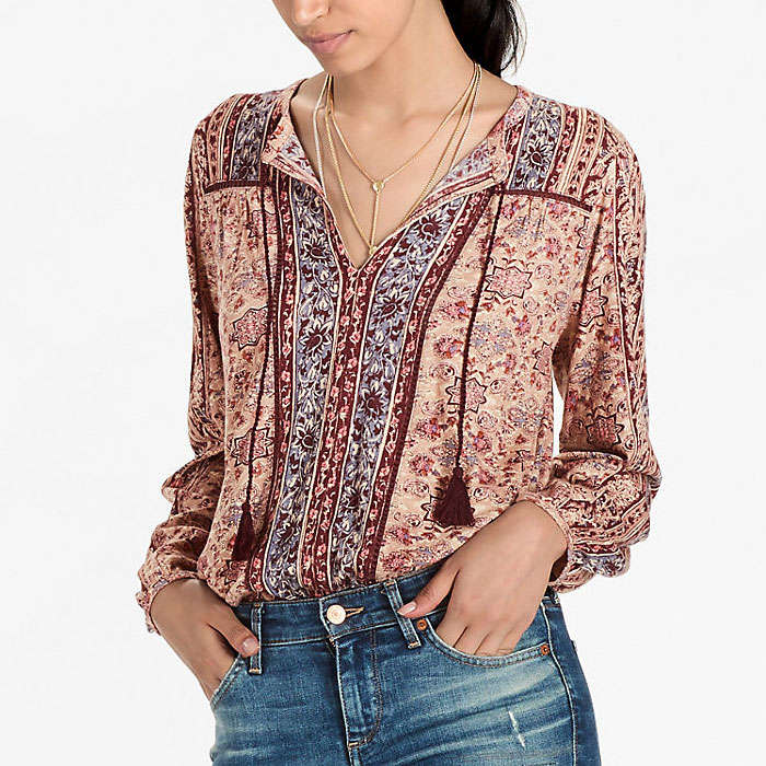 Best Lucky Brand Fall Fashion Finds - Lucky Brand Vintage Mixed Print Top