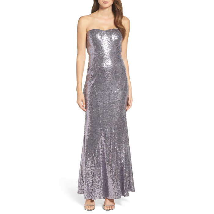 Best Prom Dresses Under $200 - Lulu's Strapless Sequin Mermaid Gown