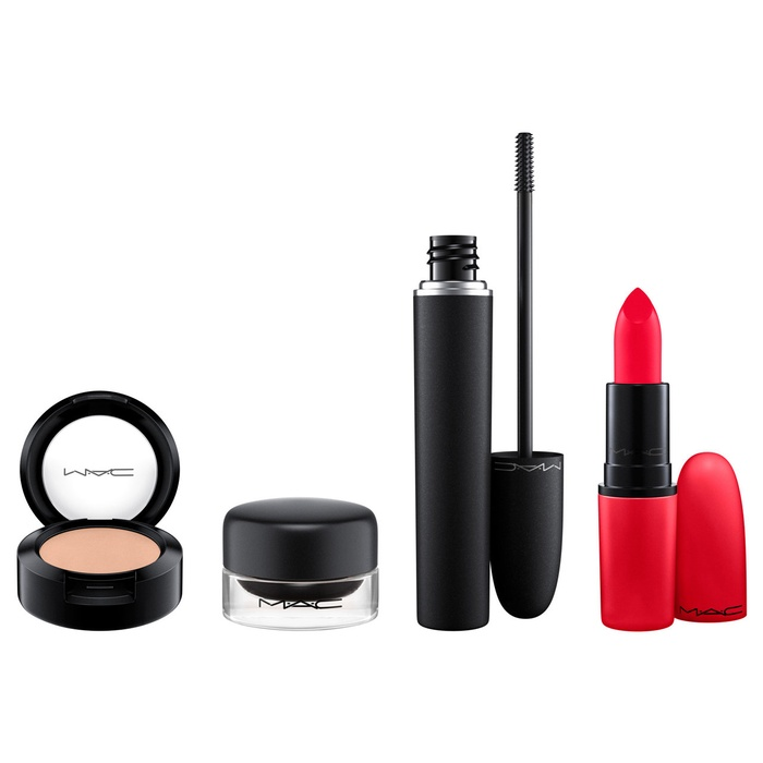 Best Top Beauty Gift Sets - MAC Look in a Box - Downtown Diva Red Lip & Eye Kit