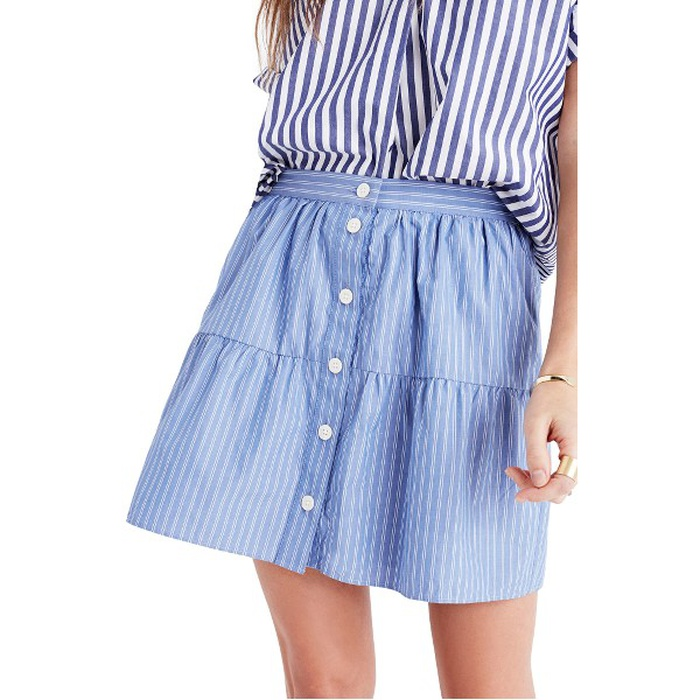 Best Flirty Skirts - Madewell Bistro Mini Skirt in Stripe