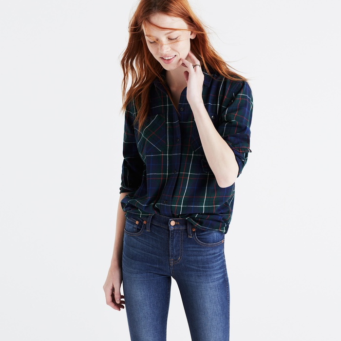 Best Boyfriend Button-Down Shirts - Madewell Ex Boyfriend Ontario Plaid Flannel Shirt