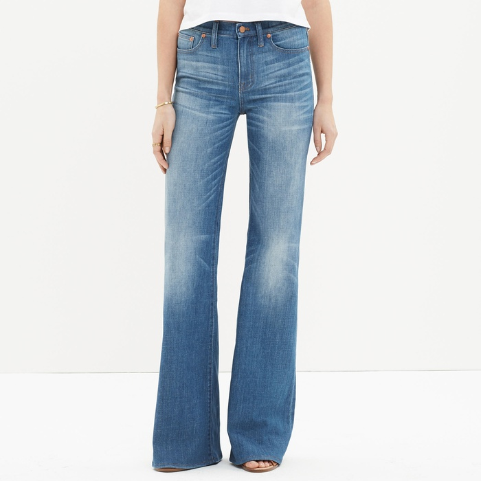Best Flared Jeans - Madewell Flea Market Flares in Thom Wash
