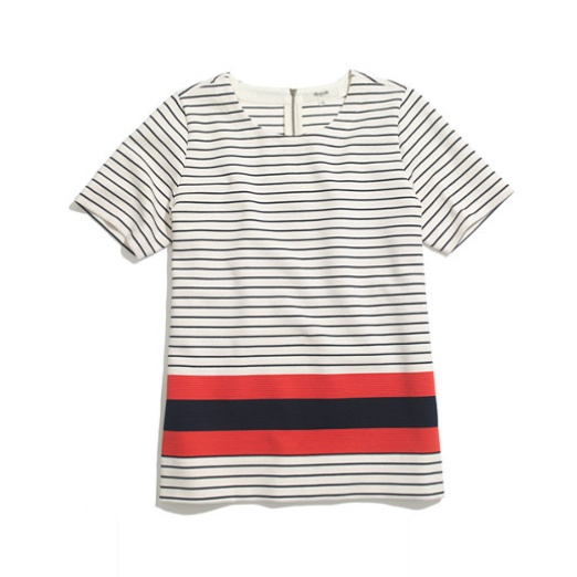 Best Nautical Inspired Bests - Madewell Mainsail tee in stripe