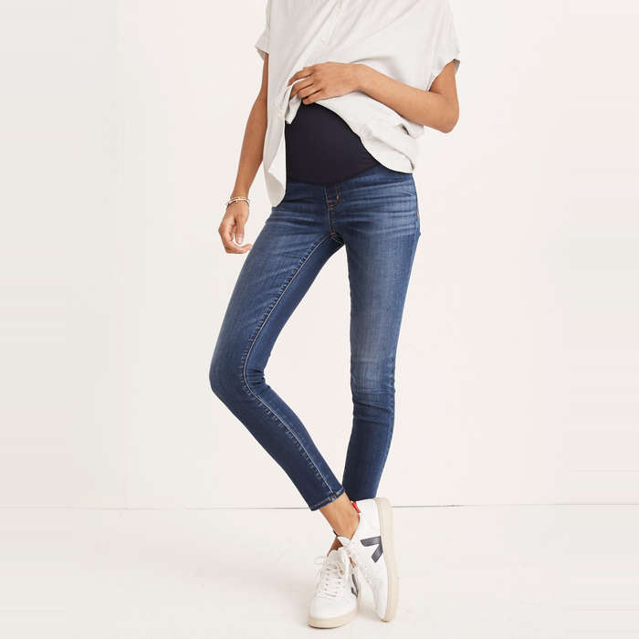 5b79877d3c0ab Madewell Maternity Over-the-Belly Skinny Jeans in Danny Wash, $138