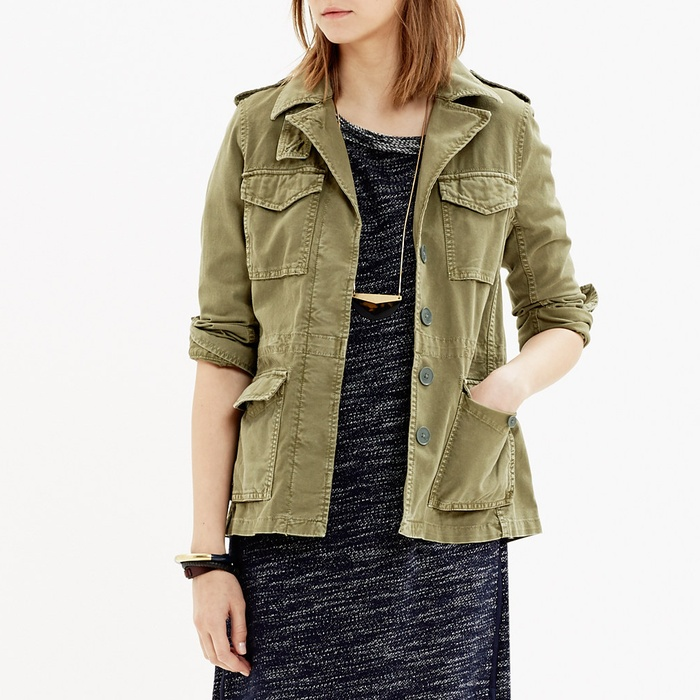 Best Military Style Coats - Madewell Outbound Jacket