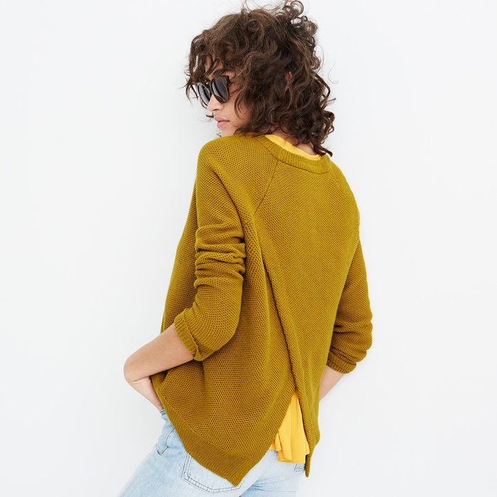 Best Lightweight Sweaters - Madewell Province Cross-Back Pullover Sweater