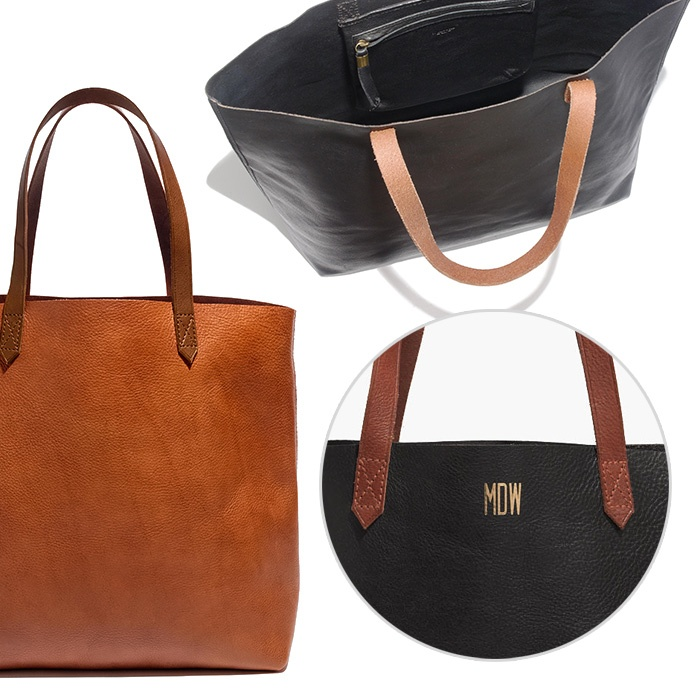 Best Monogrammed Accessories - Madewell The Transport Tote