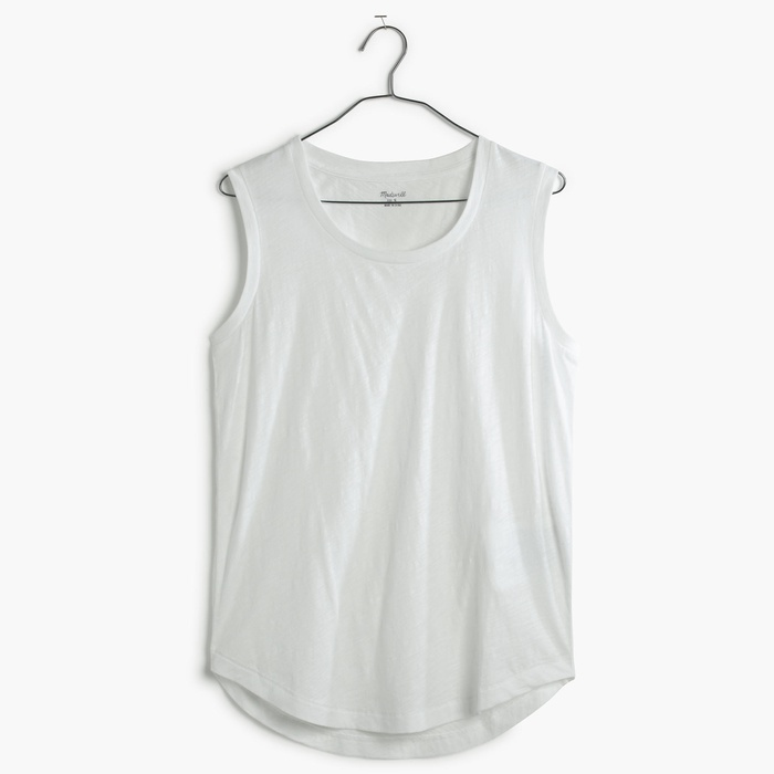 Best White Tank Tops - Madewell Whisper Cotton Crewneck Muscle Tank