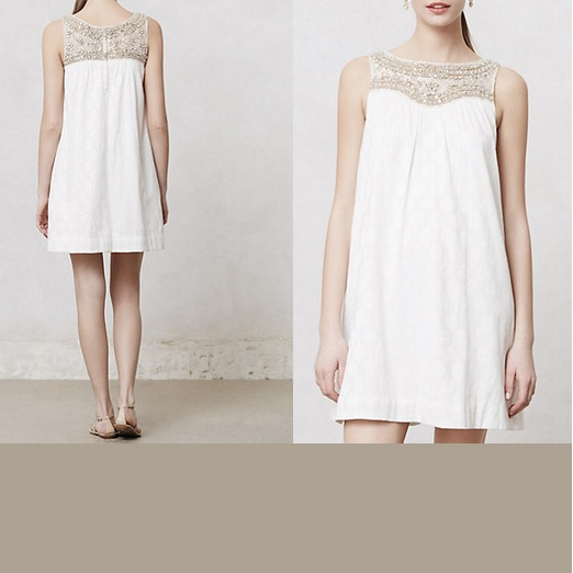 Best White Dresses - Maeve Graced Swing Dress