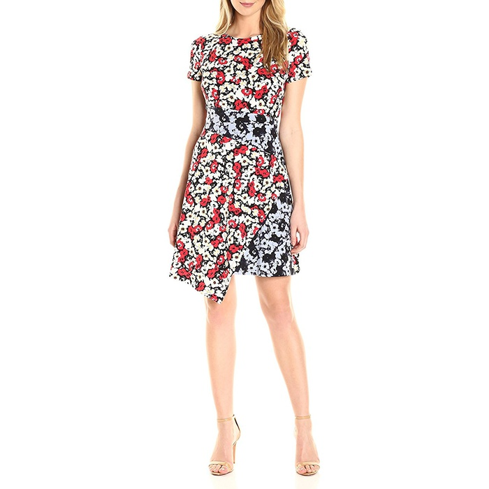 Best Amazon Dresses Under $150 - Maggy London Fractured Pansy Print Jersey Shift Dress