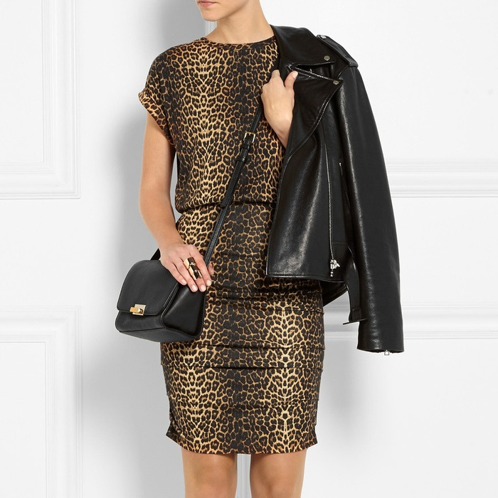 Best Animal Print Dresses - Maje Katanga Leopard-Print Stretch-Jersey Mini Dress