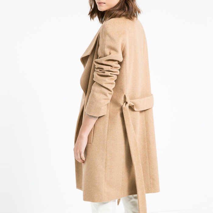 Best Wool Coats Under $500 - Mango Lapels Wool-Blend Coat