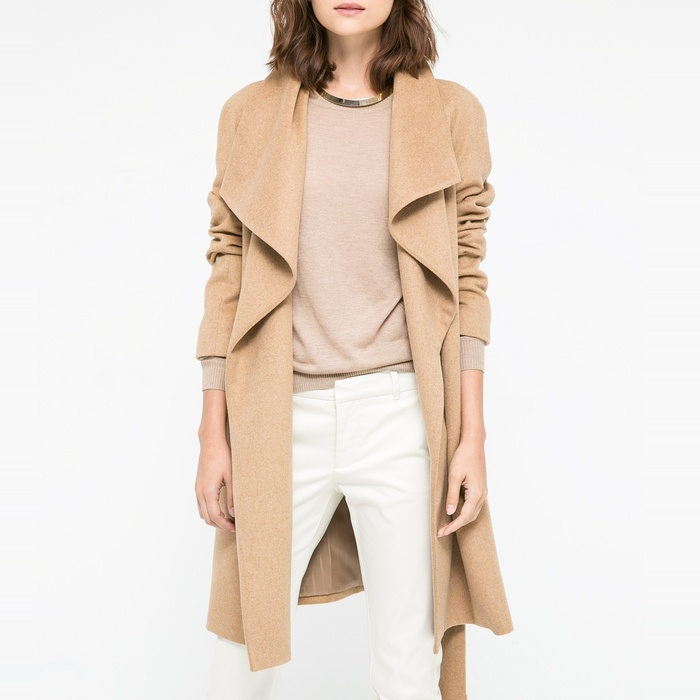 Best Camel Coats - Mango Lapels Wool-Blend Coat