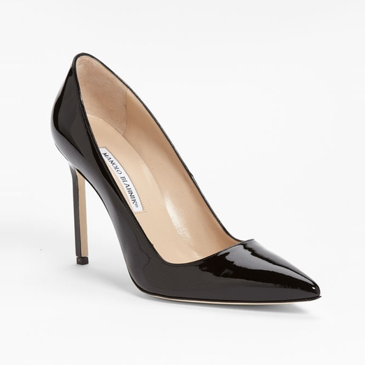 Best Basic Black Pumps - Manolo Blahnik BB Patent Leather Point-Toe Pumps