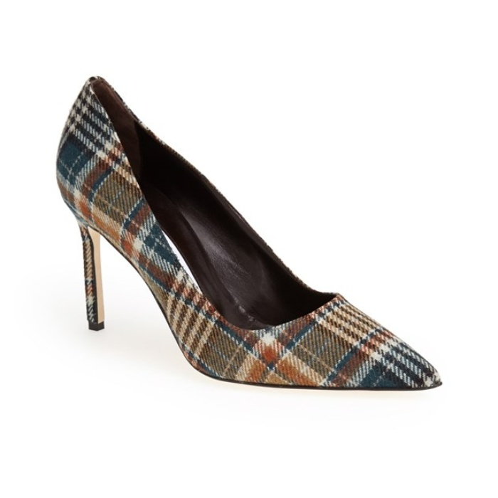Best Pumps To Splurge On This Fall - Manolo Blahnik 'BB' Plaid Pointy Toe Pump