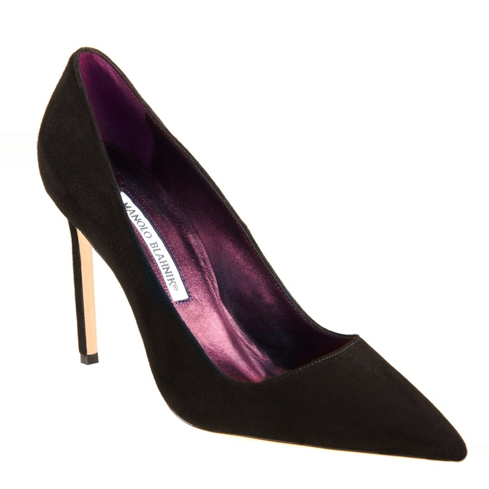 Best Black Suede Winter Pumps - Manolo Blahnik 'BB' Pointy Toe Pump