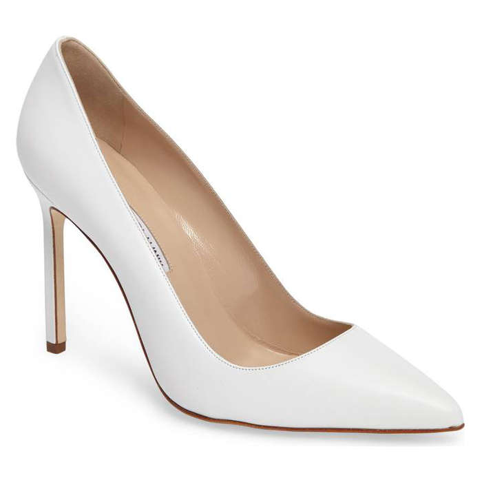 Best White Heels - Manolo Blahnik BB Pointy Toe Pump