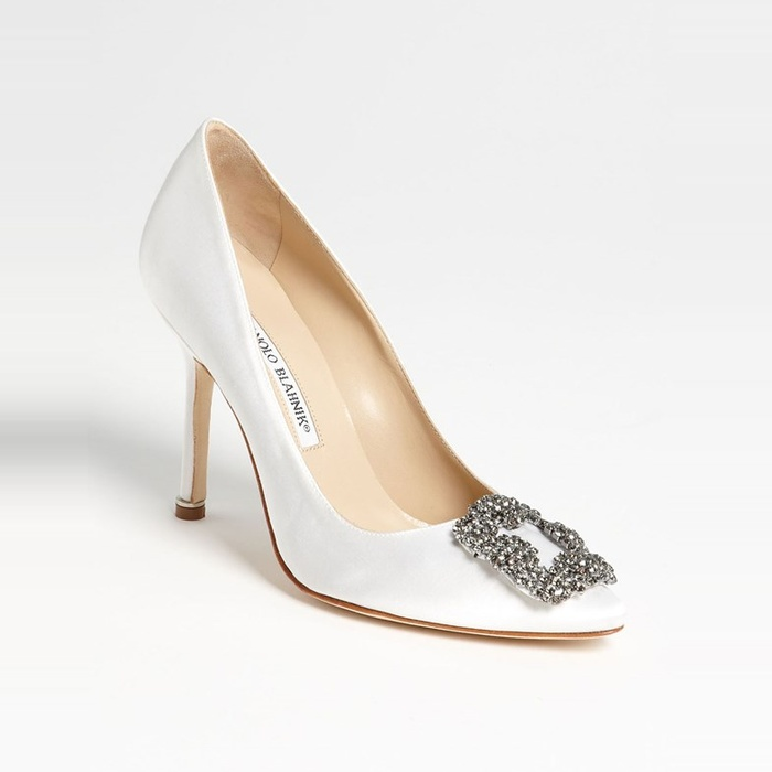 Best Wedding Heels - Manolo Blahnik Hangisi Jeweled Pump