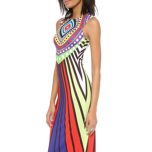 Best Ten Tribal Themed Bests - Mara Hoffman Rays Jersey Fitted Maxi Dress