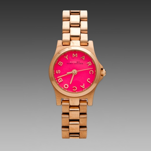 Best Trendy Watches - MARC BY MARC JACOBS Henry Dinky Watch in Rose Gold/Knockout Pink