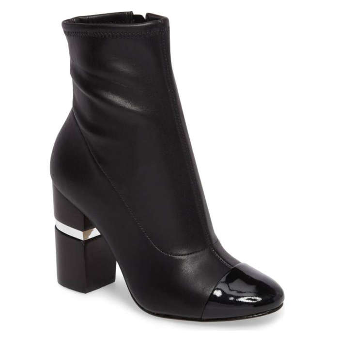 Best Vegan Leather Booties - Marc Fisher LTD. Prisa Cap Toe Bootie