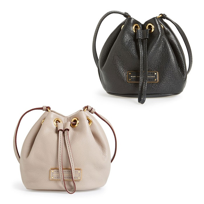 Best Mini Cross Body Bags Under $250 - Marc Jacobs 'Too Hot to Handle Mini' Leather Drawstring Crossbody Bag