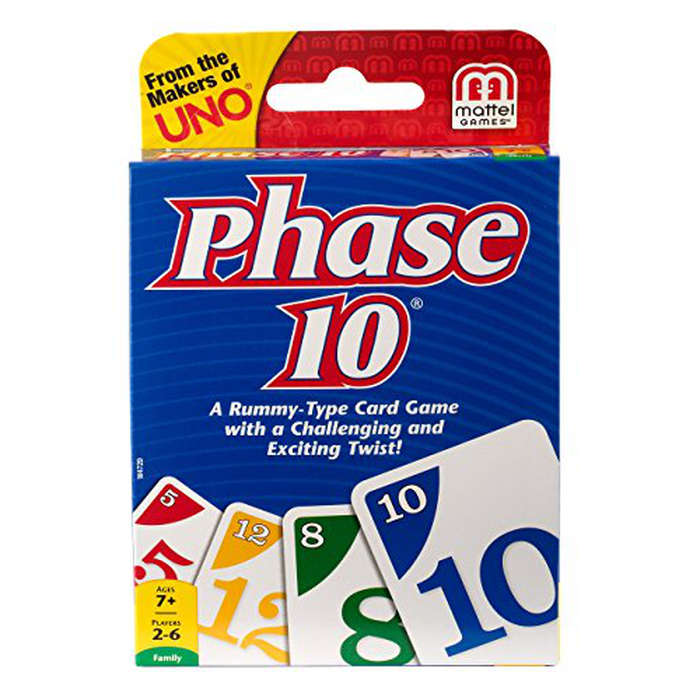 Best Game Night Games - Mattel Phase 10 Card Game