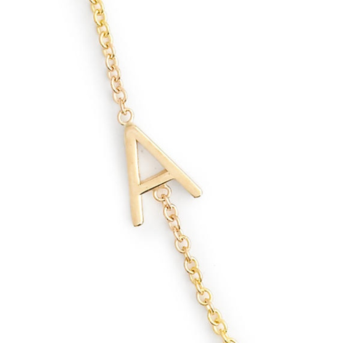 best personalized jewelry presents j crew maya brenner 14k gold asymmetrical letter necklace