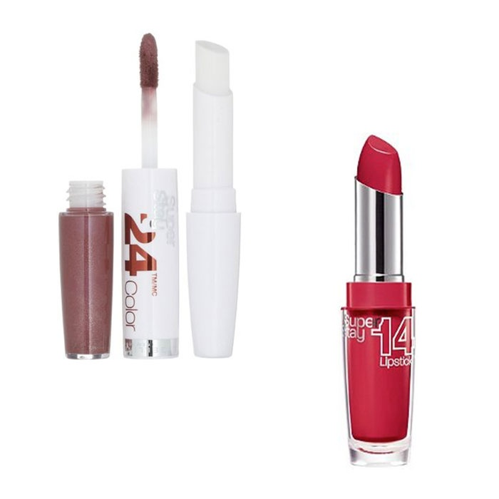 Best Drugstore Lipsticks - Maybelline Super Stay 24 Hour Color and Super Stay 14 Hour Lipstick