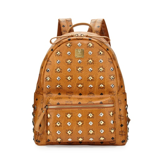 Best Leather Backpacks - MCM Backpack Stark Medium M Stud