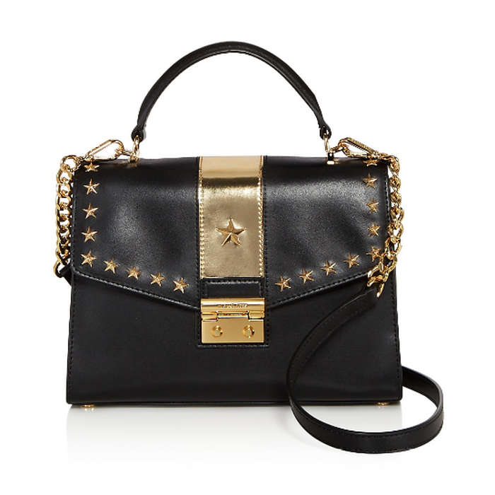Best Embellished Handbags - Michael by Michael Kors Sloan Studded Top Handle Medium Leather Satchel