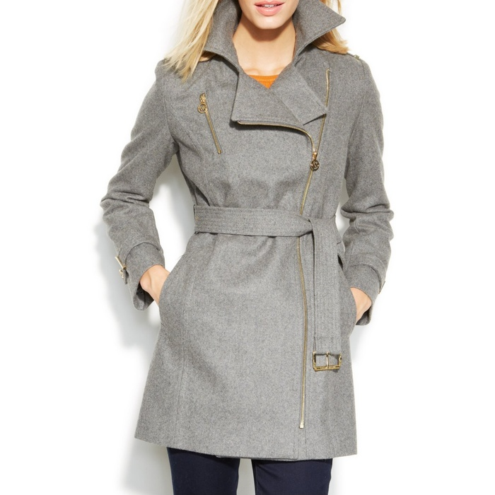 Best Wool Coats Under $500 - MICHAEL Michael Kors Asymmetrical Belted Walker Coat