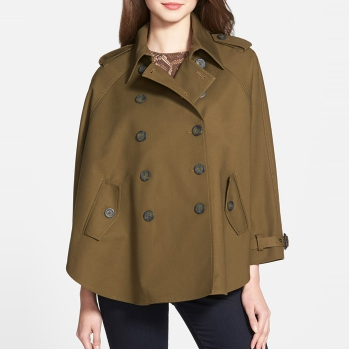 Best Cape Coats and Blazers - MICHAEL Michael Kors Double Breasted Swing Trench Coat