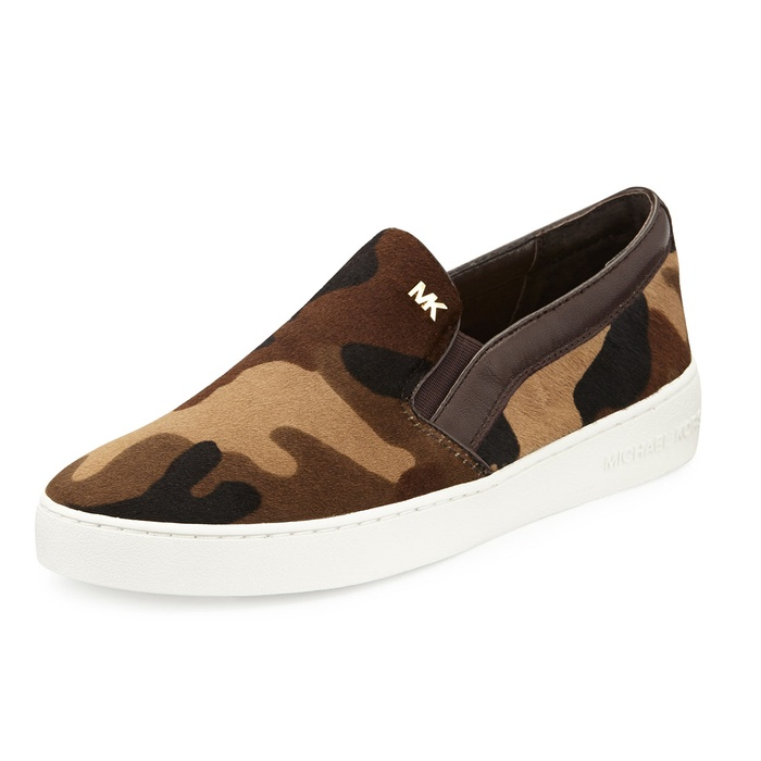 Best Slip On Sneakers - MICHAEL Michael Kors Keaton Camouflage-Print Calf Hair Slip-On Sneakers