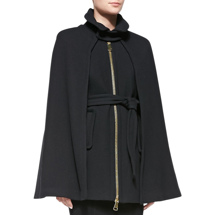 Best Fall Capes - Milly Sienna Belted Cape Coat