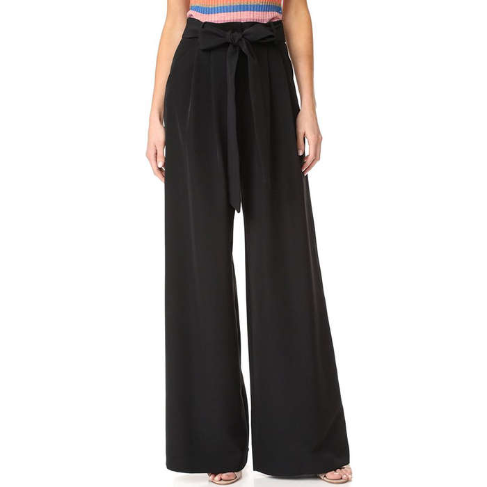 Best Wide Leg Pants - Milly Trapunto Trousers